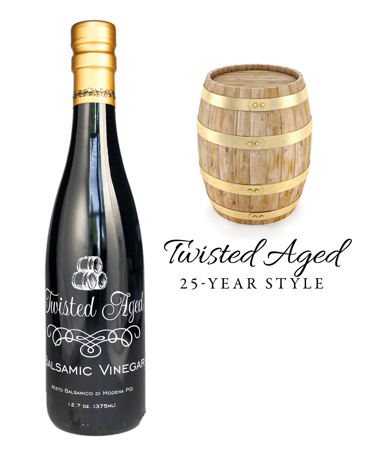 Twisted Aged Balsamic Vinegar - Various Sizes